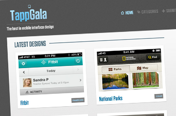 tappgala mobile gallery