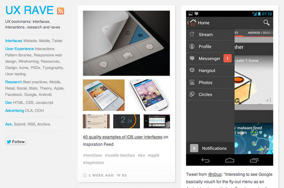 mobile ux rave gallery