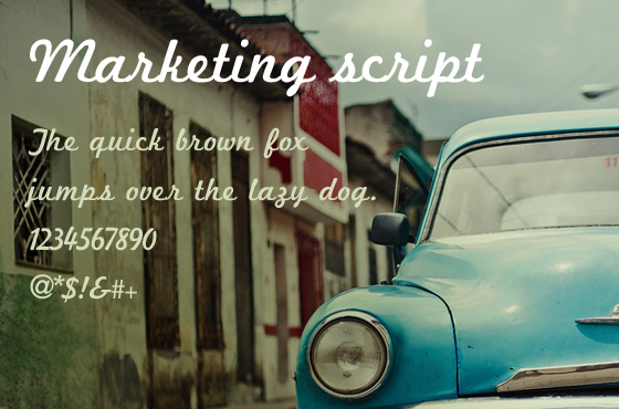 Marketing Script free font download