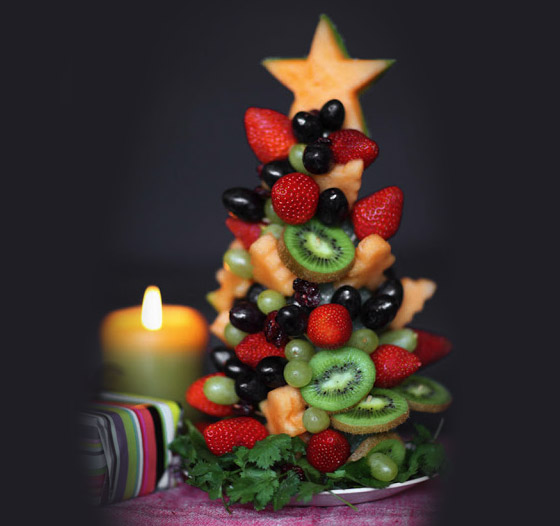 xmas food fruit tree