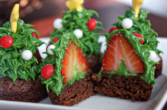 xmas tree brownie