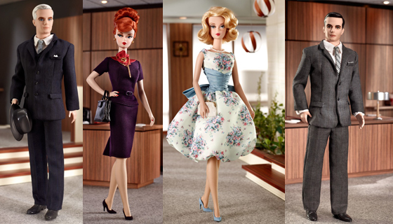 Barbie Mad Men: Roger, Joan, Betty e Don