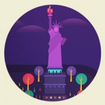 Cosmópolis: cidades famosas em ilustração vetorial