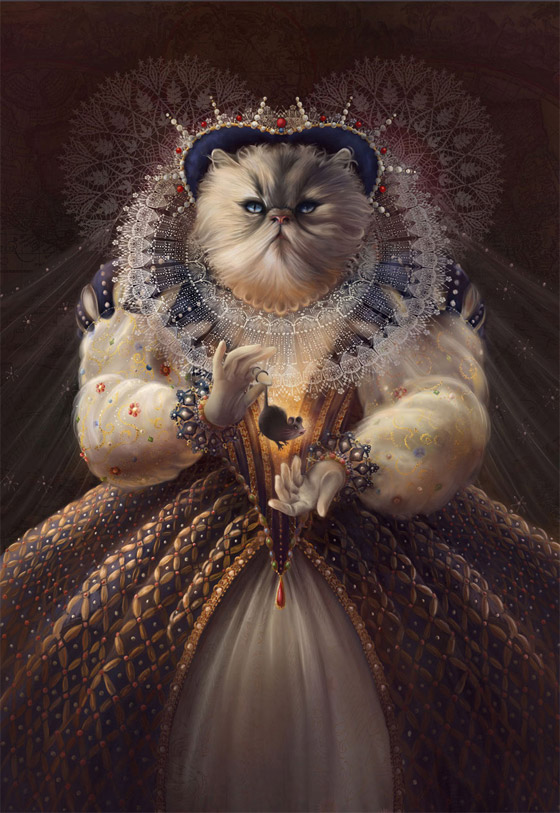 """Cat Queen"" (Rainha Elizabeth I)"