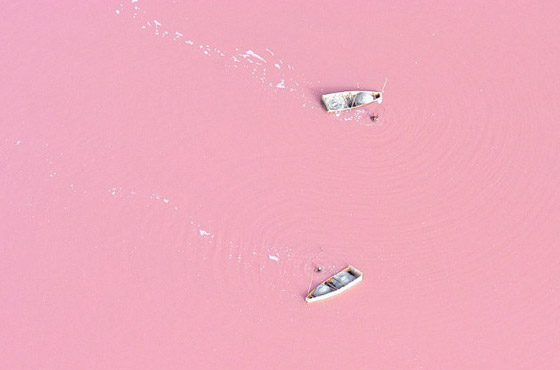 Lago Retba, no Senegal.