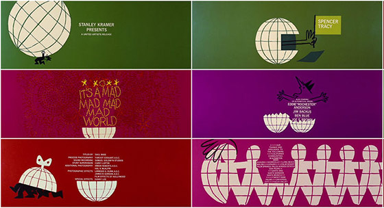 """It's a mad mad mad world"", 1963. Por Saul Bass."
