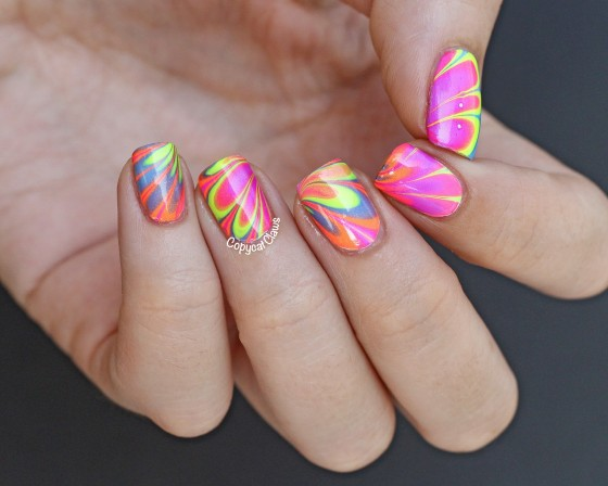 Neon-water-marble-nails-4