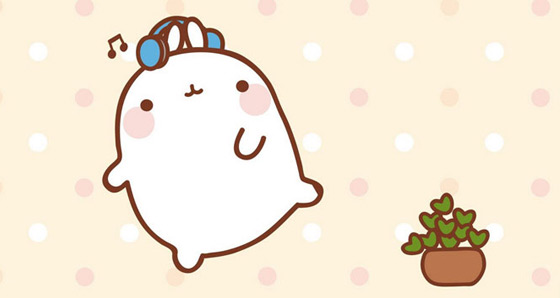molang-cutedrop-listenmusic