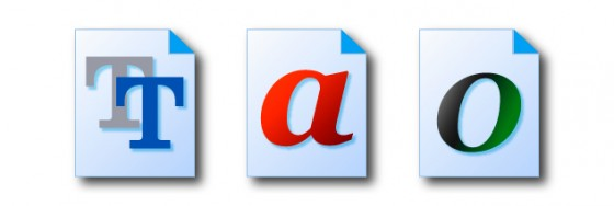 True Type, Post Script e Open Type