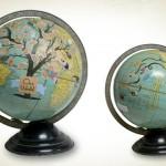 Mundo ilustrado: a artista que transforma globos terrestres em arte