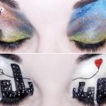 Ilustrando bocas e olhos com make up