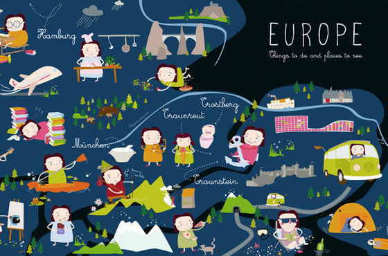 Draw and travel - Europe