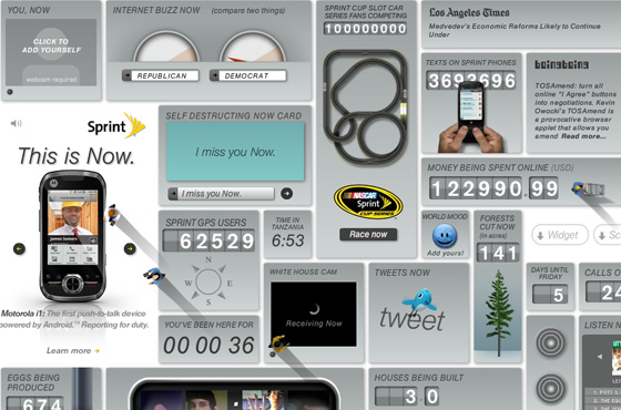 sprint widgets real time