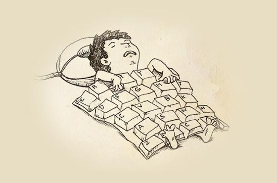 workaholic ilustração