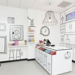 Uma loja com cara de desenho