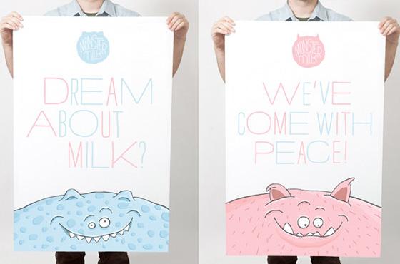 monster milk poster