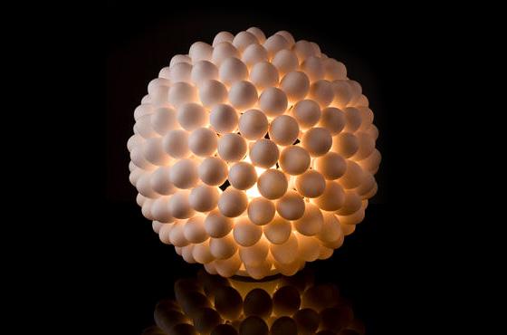 luminaria casca de ovo