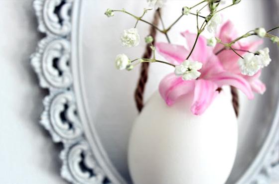 ovo pascoa vaso de flor