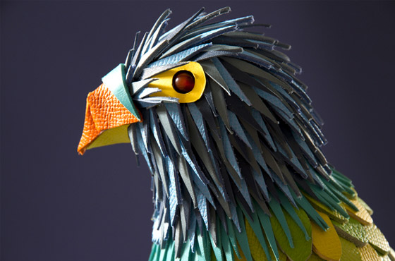 Zim and Zou - leather parrot for hermés