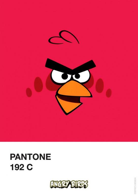 Pantone Angry Birds