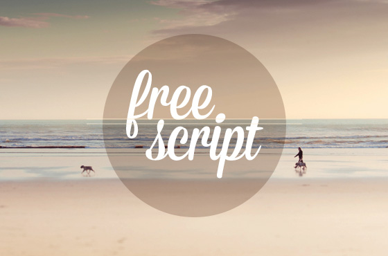 5 fonts script for free - download