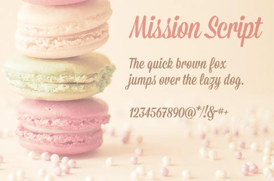 Mission script  - Free font downoad