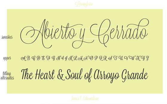 Free font download Lavanderia