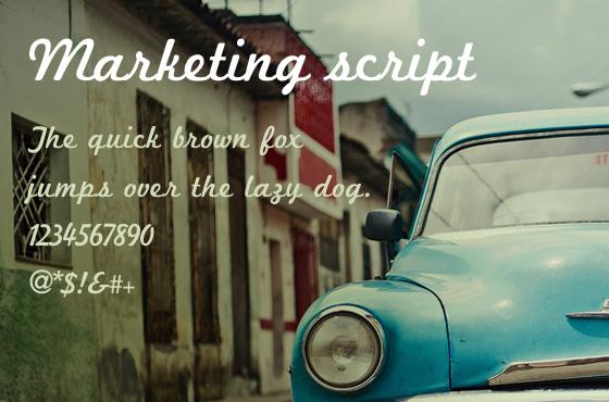 Marketing Script free font download