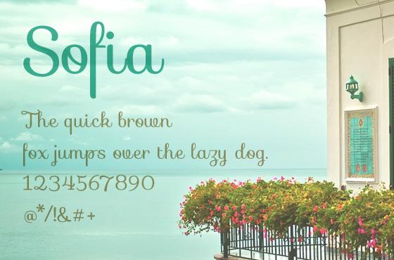 Sofia free font download