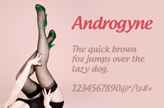 Androgyne free font download