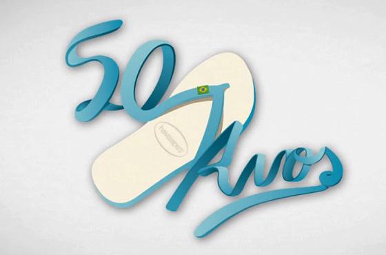 havaianas 50 anos