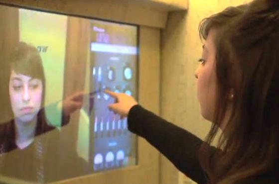 Espelho virtual Natura Una - cutedrop.com.br