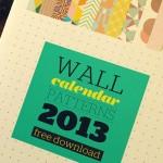 Um belo calendário pra 2013: download free