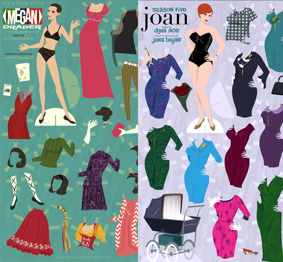 Baixe as Mad Men Dolls