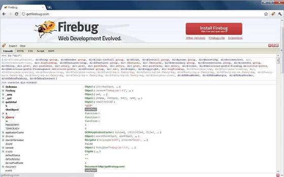 Firebug Lite Chrome extension