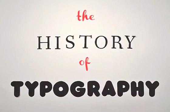 A história da tipografia