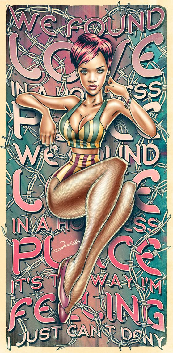 Pinup Rihanna