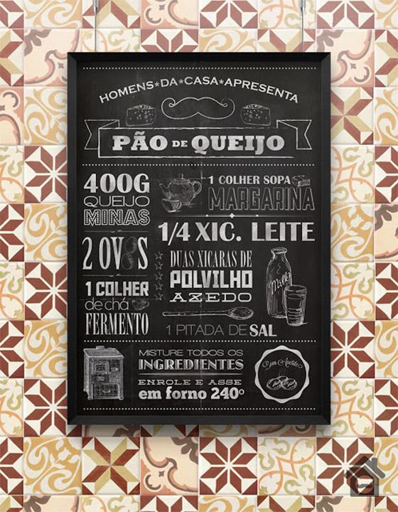 free poster pao de queijo