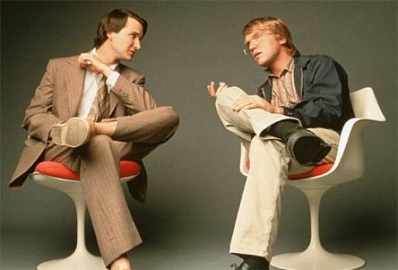 Piratas do Vale so Silício: Noah Wyle (Steve Jobs) e Anthony Michael Hall (Bill Gates).