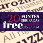 Free download: 20 fontes serifadas