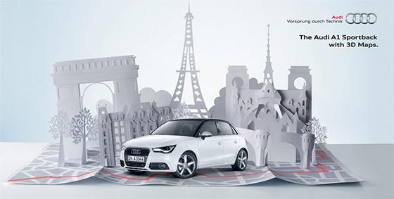 Arte para a campanha global da Audi.