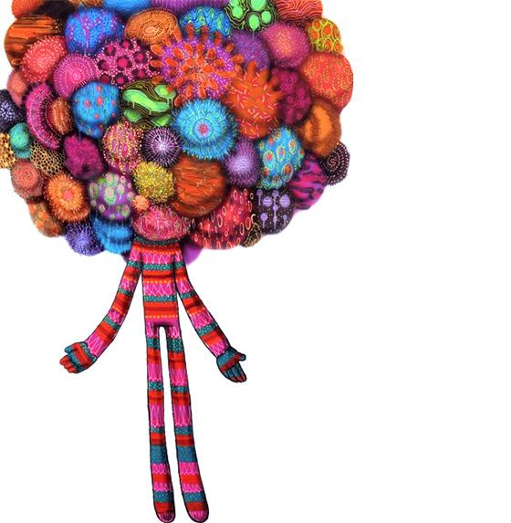 """Um de seus trabalhos mais recentes, """"O vendedor de bolas""""."""