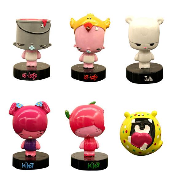 Alguns personagens versão toy art.