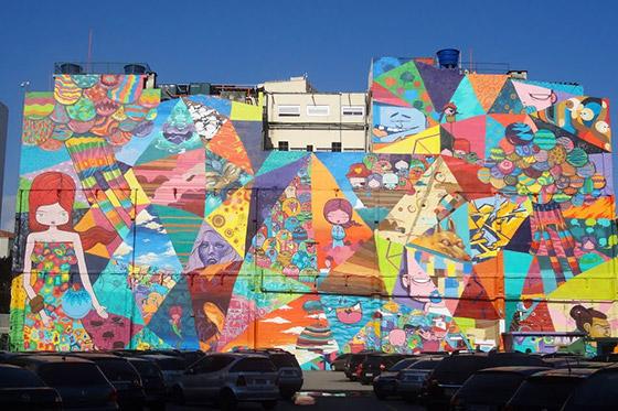 O maior mural do Rio, que ocupa 2.100 metros quadrados.