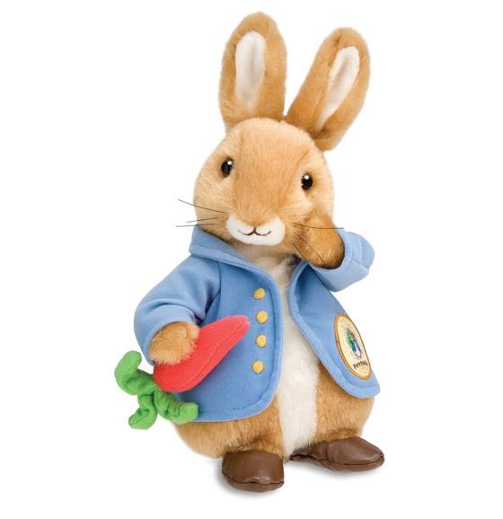 Peter Rabbit de pelúcia, vendido atualmente.