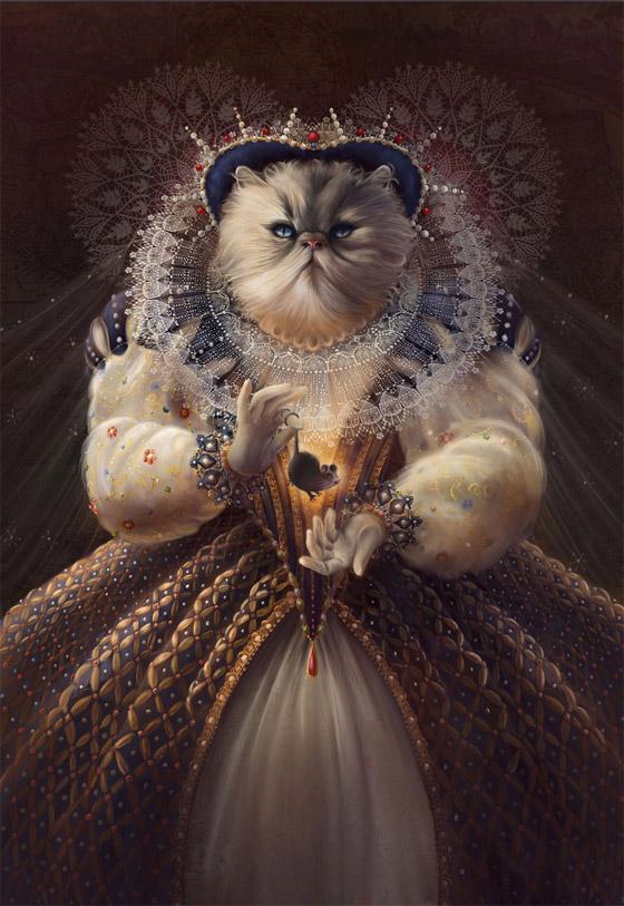 """""""Cat Queen"""" (Rainha Elizabeth I)"""