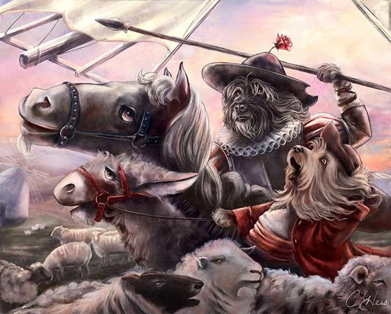 """Miguel Dog Cervantes"" (Miguel de Cervantes, autor de Dom Quixote)"