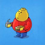 Uma série ilustrada que retrata personagens (bem) acima do peso
