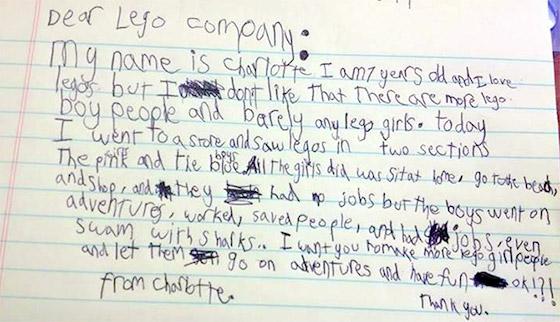 A carta de Charlotte.