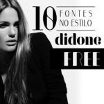 10 fontes estilo Didone (Didot+Bodoni) para baixar de graça